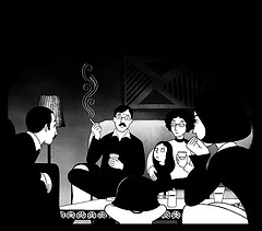 image from Marjane Satrapi's Persepolis courtesy of Midnight in a perfect world