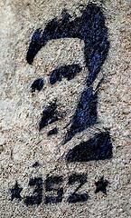 image of nikola tesla grafitti