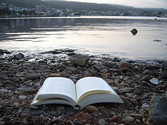 image of book released on the shore courtesy of mafaldaQ via Flickr