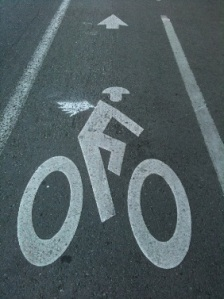 Image of the Flying Cyclist, courtesy of Abby
