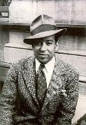 Langston Hughes with necktie 1939