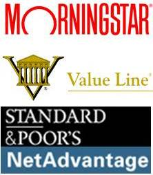 Morningstar, Value Line and Standard & Poor's