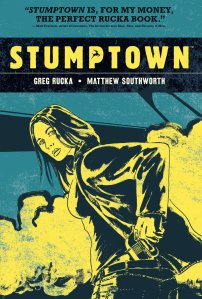 """Picture of the book """"Stumptown Investigations."""" Click here to find it in The Seattle Public Library Catalog."""