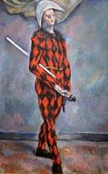 "image of Cezanne's ""Harlequin"" courtesy of AgnostiPreachersKid from Wikimedia Commons"