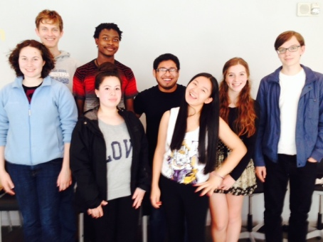 Picture of the Teen Center Advisory Group 2014