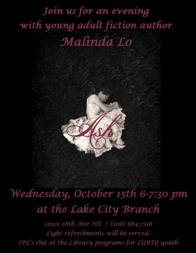Event Announcement for an evening with Malinda Lo