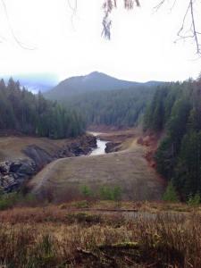 site of the former elwha dam