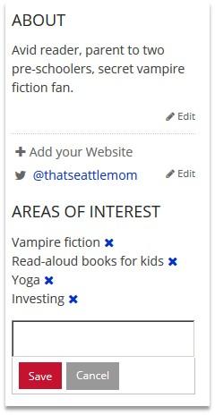 blog profiles