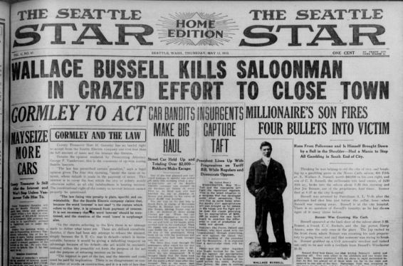 Wallace A. Bussell - Image from The Seattle Star, Thursday May 12, 1910