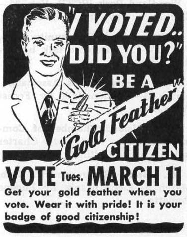 I voted, did you, Municipal News, March 8, 1952