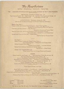 The Hearthstone menu, 1940