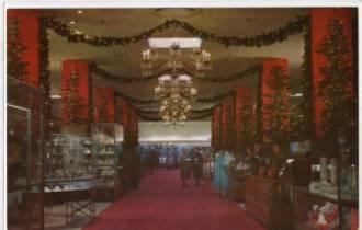 Frederick & Nelson Christmas postcard, 1955