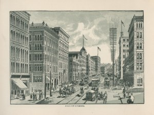 An illustration of new buildings in Pioneer Square from Seattle, Washington, U.S.A. booklet, 1891