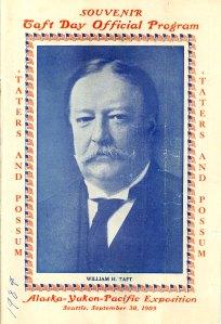 "Alaska Yukon Pacific Exposition ""Taft Day"" program, 1909"