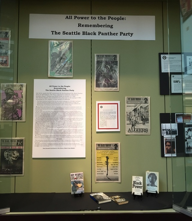Black Panther display at Douglass-Truth Library