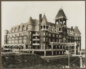 The Washington Hotel, site of President Roosevelt's Seattle stay