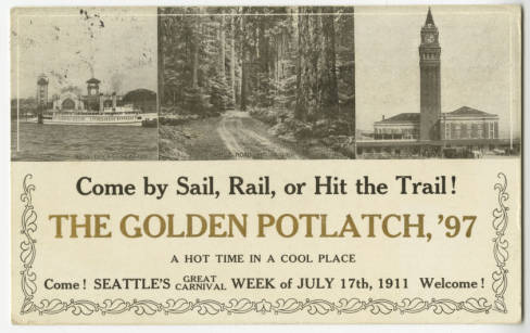 1911 Potlatch Postcard, Seattle Historical Postcard Collection