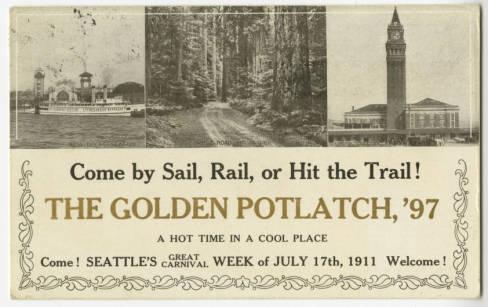 1911 Potlatch Postcard, Seattle Historical Postcard Collection