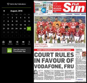Fiji newstand view