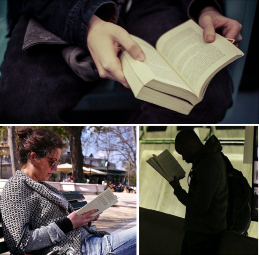 Images of readers courtesy of Antoine Robiez, Pedro Simoes and Pabak Sarkar via Flickr
