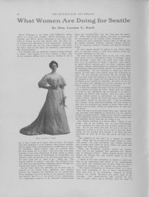 What Women are Doing for Seattle, 1904 Progress Edition