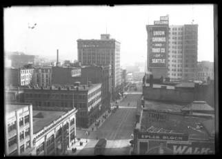 View south from 2nd and Cherry, ca. 1910
