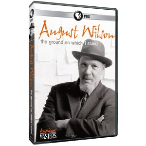 """DVD cover: Photo of August Wilson and documentary title """"August Wilson: The Ground on Which I Stand"""""""