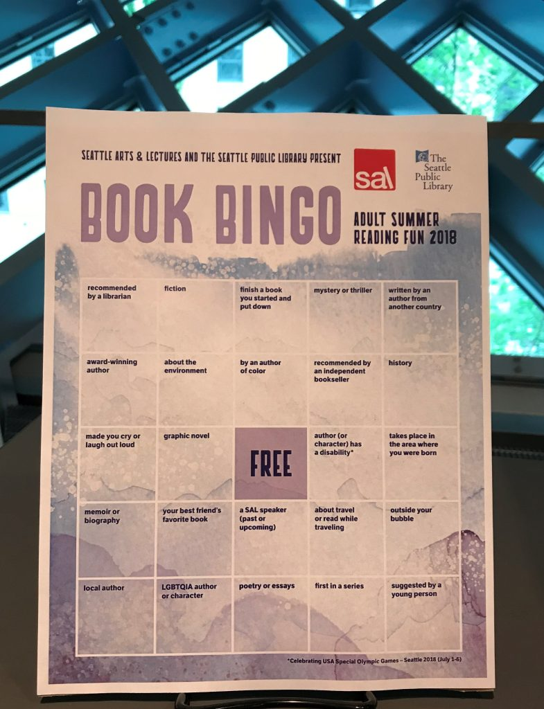 Image of Book Bingo card