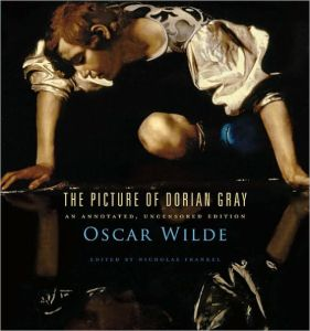 """Book cover: Title reads """"The Picture of Dorian Gray: Annotated, Uncensored Edition"""""""