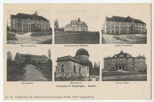 postcard showing University Buildings, ca. 1905