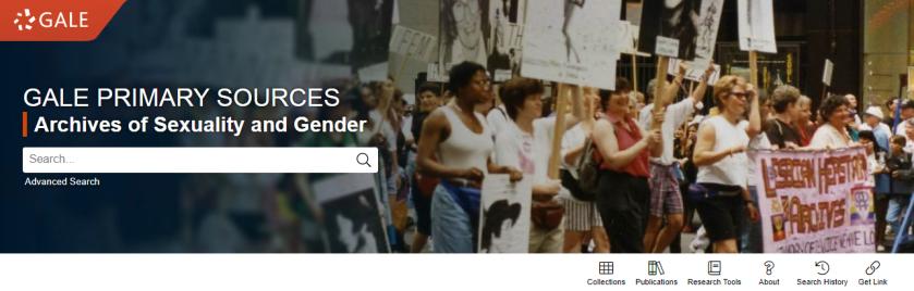 screenshot of LGBTQ History & Culture homepagge