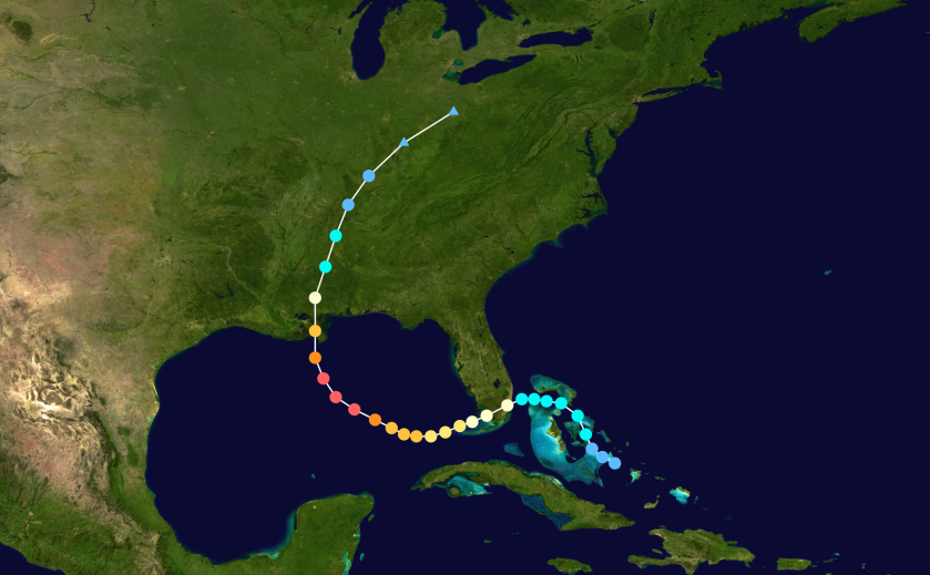 path of Hurricane Katrina