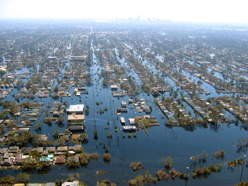 View of New Orleans in aftermath of Hurricane Katrina