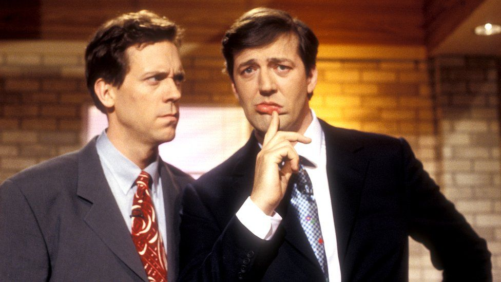 photo of Stephan Fry and Hugh Laurie